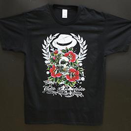 عينة طباعة قميص أسود من طابعة النسيج الرقمية A1 WER-EP6090T