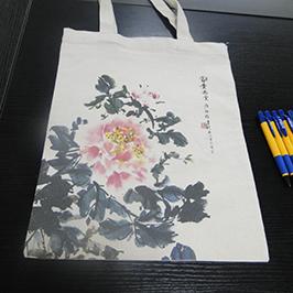 حقيبة قماش الطباعة عينة بواسطة طابعة تي شيرت A2 WER-D4880T