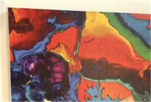 عينة قماش الطباعة من WER-E2000UV