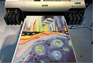 عينة قماش من طابعة A2 UV WER-EH4880UV