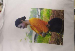 تي شيرت طباعة عينة لعميل بورما من طابعة WER-EP6090T