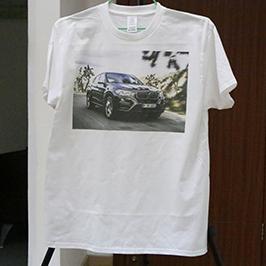 عينة طباعة قميص أبيض من طابعة A3 تي شيرت WER-E2000T 2